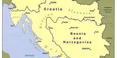 Karta Bosnien Och Hercegovina.Bosnien Och Hercegovina Bosnien Bosnien Hercegovina Map Kartor
